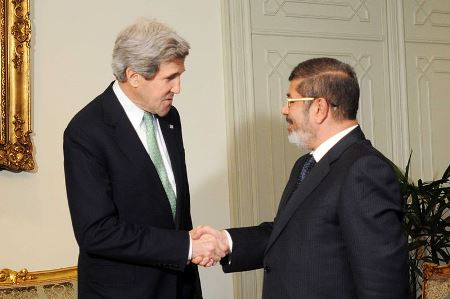 Secretary Kerry Meets With Egyptian President Mohammed Morsi, March 2013.